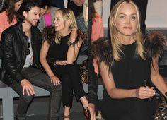 Sharon Stone con su novio, el modelo argentino Martín Mica, en la Milán Fashion Week #people #celebrities #actress