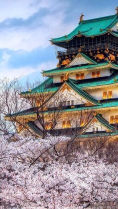 Temple from Japan seen in the Spring