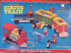 Little People Circus Train Fisher Price Toys, Vintage Fisher Price, Retro Toys, Vintage Toys, Childhood Toys, Childhood Memories, Circus Train, Classic Toys, Antique Toys