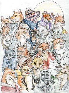 Foxes of Redwall by Professor-R