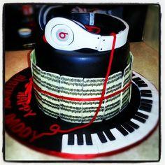 Birthday Cake or Groom's Cake Music Birthday Cakes, Music Themed Cakes, Music Cakes, Theme Cakes, Pretty Cakes, Beautiful Cakes, Amazing Cakes, Cupcakes, Cupcake Cakes
