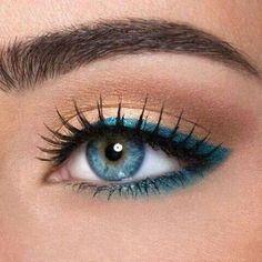 Gekleurde eyeliner inspiratie   Teskuh.nl   Teske de Schepper