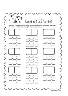 First Grade Wolves: Search results for domino fact families: