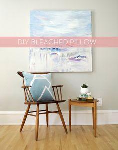 DIY Bleached Landscape Pillow » Curbly | DIY Design Community