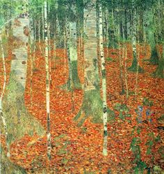 Gustav Klimt -Farmhouse with Birch Trees-Fine Art Oil Painting Gallery
