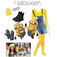 Minion costume (Cr BETHANY mota by melaneemazariego on Polyvore featuring With Love From CA  sc 1 st  Pinterest & Diy Minion Costume!! #Halloween2013 #DespicableMe #Minion | DIY ...
