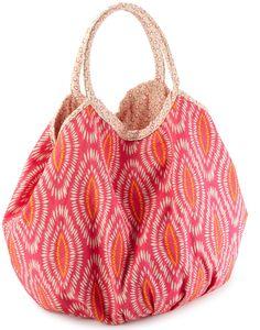 Echo Design Women's Batik Leaf Bucket Tote