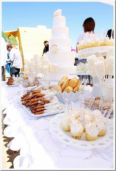 Beach wedding sweets