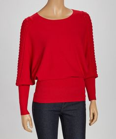 Take a look at this Red Dolman Sweater by Fashion Favorites: Women's Apparel on @zulily today!