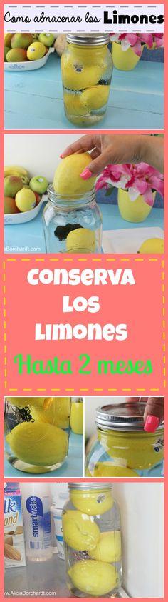 Truco casero para que tus limones te duren hasta 2 meses sin perder el jugo y con una apariencia fresca