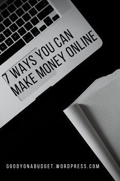 7 ways you can make money online #onlinejobs #remotework #moneyonline
