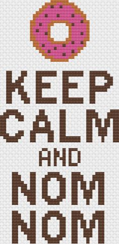 Keep Calm Donut Cross Stitch Pattern
