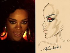 fell in love w/ dis look few weeks ago when this video was released. still in love with it now. riri, u rock. Rihanna, Kabuki