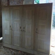 Perfect  doors wardrobe Material solid teak wood Open order