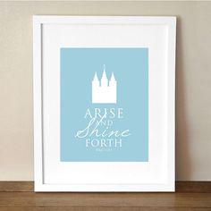 Mutual Theme 2012 Arise and Shine Forth 8x10 by LittleMissMissy, $15.00