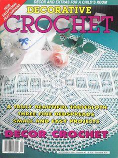 Decorative Crochet Magazines 27 - Gitte Andersen - Álbuns da web do Picasa Crochet Cross, Crochet Chart, Crochet Home, Thread Crochet, Filet Crochet, Easy Crochet, Magazine Crochet, Knitting Magazine, Crochet Tablecloth