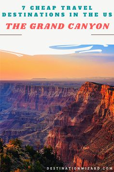 You may satiate your wanderlust soul by taking a trip to some of the cheap travel destinations in the US. #trips #travel #destination #travellovers #traveladdict #goexplore #traveltheworld Cheap Places To Travel, Cheap Travel, All Over The World, Grand Canyon, Travel Destinations, Trips, Wanderlust, Explore, Road Trip Destinations