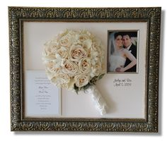 Wedding bouquet in a frame have your bouquet preserved and how to preserve your wedding bouquet wedding party by wedpics solutioingenieria