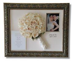 Una idea original para guardar el ramo de flores de tu boda mucho tiempo.  www.fincasparabodas.es