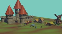 Medieval graphic assets in low poly