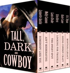 You could win a Tall, Dark and Cowboy collection (6 books) at Thoughts in Progress
