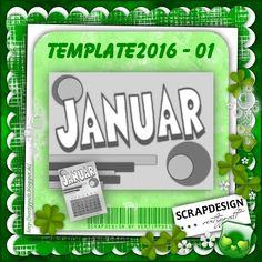 Template für Januar