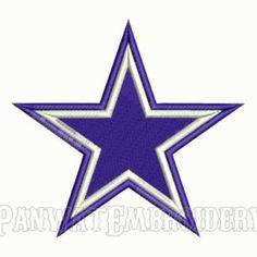 d369432bf 9 Size Dallas Cowboys Logo Embroidery Designs
