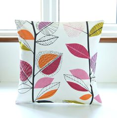 16 inch decorative pillow cover leaves by LittleJoobieBoo on Etsy