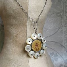 pendant with bee from Quench Metalworks