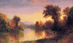 Le Prince Lointain: Jasper Francis Cropsey (1823-1900), Autumn by the ...