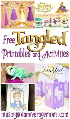 15 free Tangled printables and crafts including paper dolls, games, paper lanterns and more!