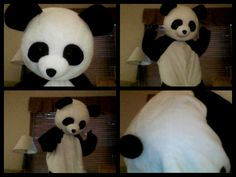 Panda Costume by ~Mr-Land-Shark on deviantART Panda Costumes, Mascot Costumes, Shark, Disney Characters, Fictional Characters, Snoopy, Deviantart, Creative, Sharks