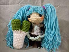 Miku-Miku Doll and Leek - Free Amigurumi Pattern here: http://duchessgala.blogspot.de/2014/07/miku-miku.html