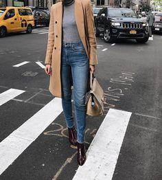 "classy-lovely: ""Coat Skinny Jeans Boots """