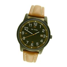 This handsome Ken Walker Watch is available with a blue or olive dial.