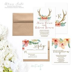 Rustic or country chic seem to be a crowd favorite right now. I love how the watercolor flowers soften and accent the rustic theme. You can never go wrong when it comes to watercolor!