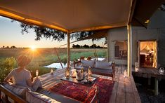 Safari chic in Botswana's bush camps African Room, Tent Design, Safari Chic, Okavango Delta, Luxury Holidays, Places Around The World, Luxury Travel, Wonders Of The World, Outdoor Decor