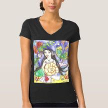 Shop Mermaid Althea T-Shirt created by fairychamber. Mermaid Outfit, Mermaid Shirt, Mermaid Artwork, Wardrobe Staples, Fitness Models, Female, Tees, Casual, Clothing