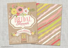 This item is unavailable Sip And See, Party Invitations, Invite, Paper Owls, Bridal Shower Party, Custom Cards, Kraft Paper, Floral Flowers, Custom Framing