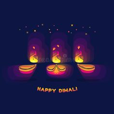 Diwali lamp bright colorful sign isolated on dark blue. Happy Diwali greeting ca , Diwali Greeting Cards, Diwali Greetings, Diwali Lamps, Dark Blue Background, Happy Diwali, Festival Lights, Fire, Bright, Colorful