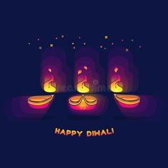Diwali lamp bright colorful sign isolated on dark blue. Happy Diwali greeting ca , Diwali Greeting Cards, Diwali Greetings, Diwali Lamps, Dark Blue Background, Happy Diwali, Festival Lights, Fire, Bright, Colorful