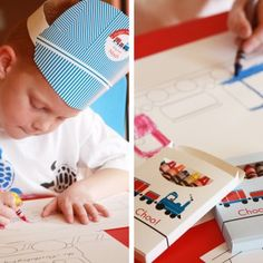 train party {Paper & Cake printables}: custom crayon box comes with the set