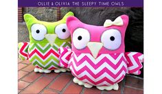 Sew4Home shares a free pattern for making their Ollie & Olivia Sleepy Time Stuffed Owls. They're made from fleece so they're extra huggable. Make them from bright colors and fun pr…
