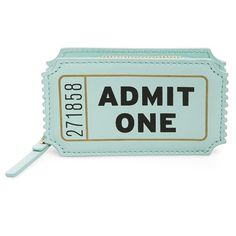 kate spade new york 'ticket' leather coin purse ($78) ❤ liked on Polyvore featuring bags, wallets, soft aqua, leather change purse, aqua wallet, zip-around wallet, leather coin pouch and leather bags