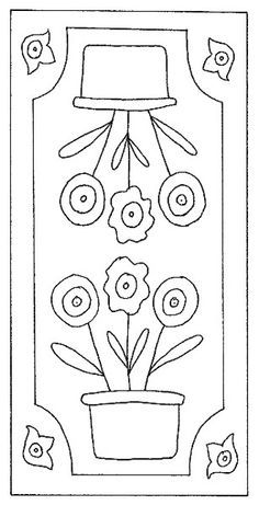 This would be a good pattern for a penny rug or punch needle. Penny Rug Patterns, Wool Applique Patterns, Punch Needle Patterns, Rug Hooking Patterns, Applique Templates, Felt Applique, Applique Quilts, Embroidery Patterns, Print Patterns