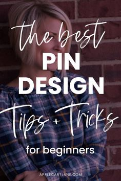 8 #Pinterest Pin #Design Tips for Beginners! // Applecart Lane -- #socialmedia #graphicdesign