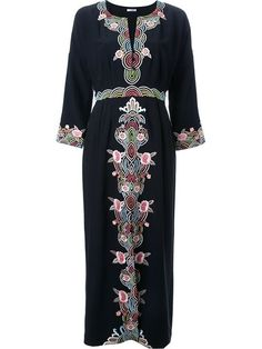 Shop Vilshenko embroidered long dress  in Le Grand Bazar from the world's best independent boutiques at farfetch.com. Shop 400 boutiques at one address.
