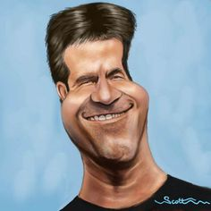 Caricature Drawings Of Famous People | ... Cowell caricature (medium) by jonesmac2006 tagged caricature,cartoon= simon cowell