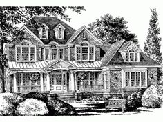 Eplans Country House Plan - Stately and Sophisticated - 3111 Square Feet and 4 Bedrooms(s) from Eplans - House Plan Code HWEPL10716