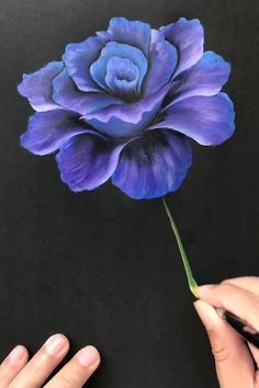 Acrylic Painting Flowers, Acrylic Art, Peony Painting, Flower Paintings On Canvas, Simple Flower Painting, Simple Flower Drawing, One Stroke Painting, Face Paintings, Acrylic Paintings